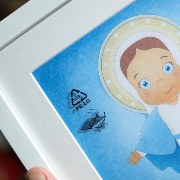 Najświętsza Maryja Panna plakat ilustracja dla dzieci
