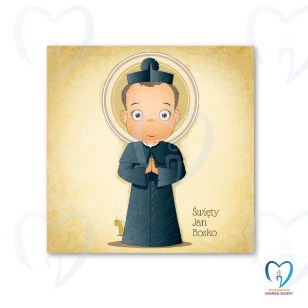Święty Jan Bosko plakat ilustracja dla dzieci