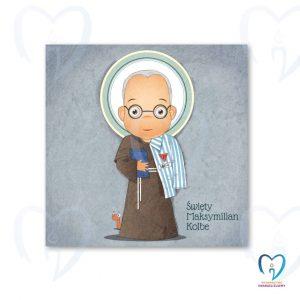 Święty Maksymilian plakat ilustracja dla dzieci