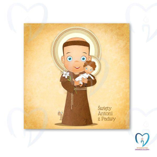 Święty Antoni plakat ilustracja dla dzieci