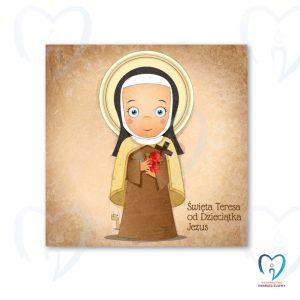 Święta Teresa plakat ilustracja dla dzieci