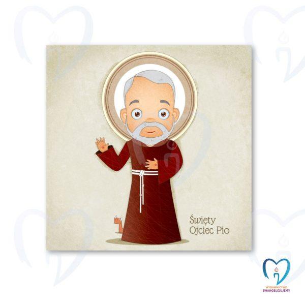 Ojciec Pio plakat ilustracja dla dzieci