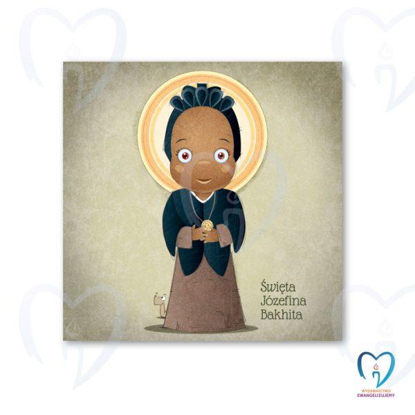 Święta Józefina Bakhita plakat ilustracja dla dzieci